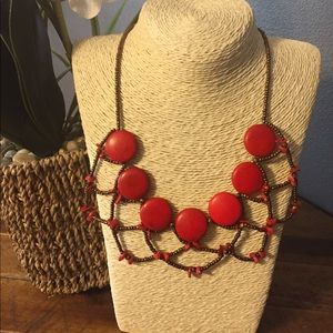 Handmade Bead and Stone Necklace